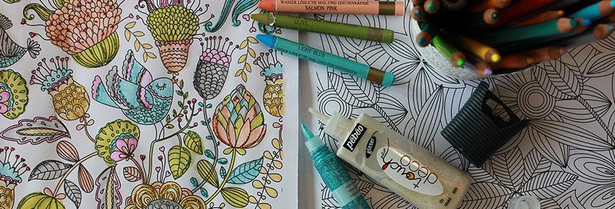 coloriage pour adultes, c'est excellent pour votre bien-être